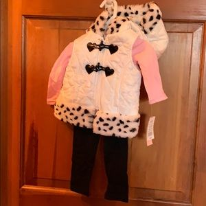 Girls 12 m, 3 piece outfit